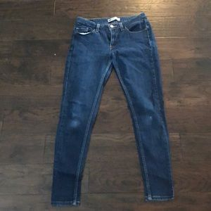 Levi skinny dark wash denim